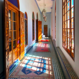 The beautiful corridors of the 'Palais Amani' building