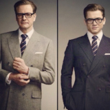 Bespoke Tailoring on Colin Firth and Taron Egerton for 'Kingsman' Available exclusively at mrporter.com