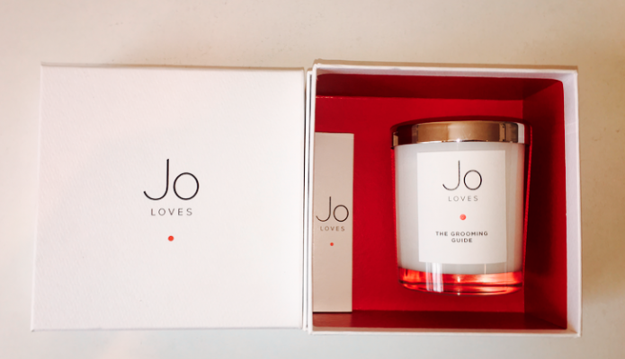 Jo Loves - White Rose and Lemon Leaves Personalised Candle